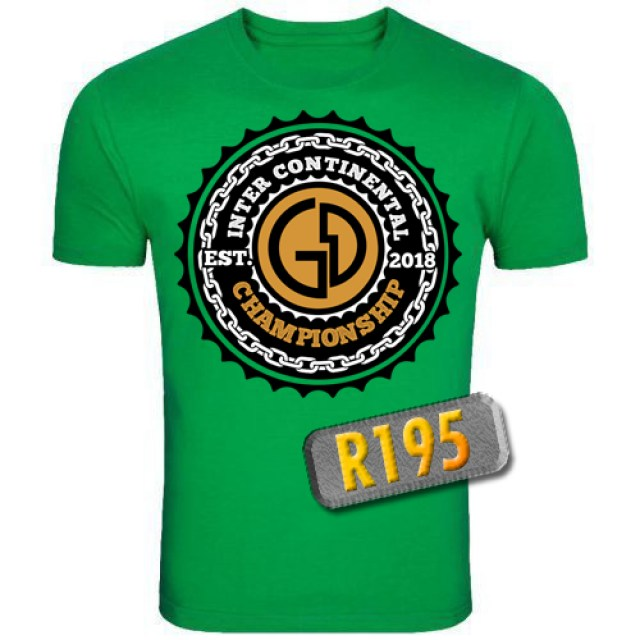 Unisex Inter-Continental Green T-Shirt - 1078